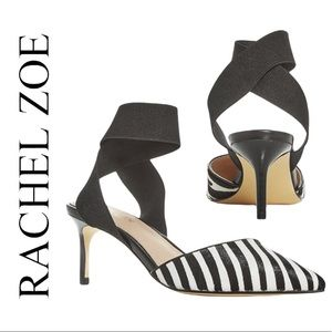 Rachel Zoe Blaire Calf Hair Kitten-heel Pumps NEW
